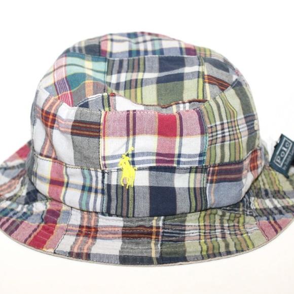 POLO PLAID BUCKET HAT. M 5a4c91d085e60529f900a294 79732dbd621